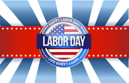 national hero: labor day star sign illustration design graphic background