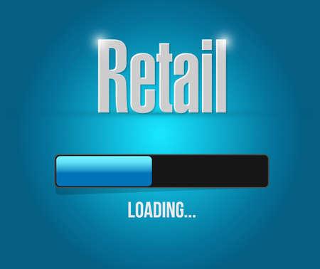 market place: retail loading bar sign concept illustration design graphic Illustration