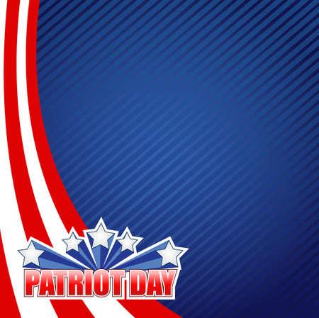 patriot day sign illustration design graphic background