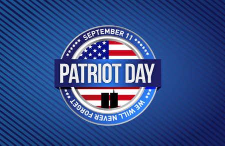 patriot: patriot day star sign illustration design graphic background Illustration