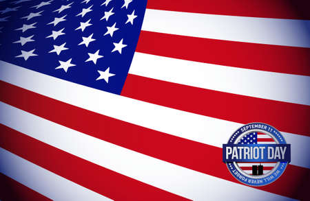 patriot day flag sign illustration design graphic background Illustration