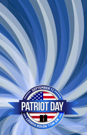 national hero: patriot day seal sign illustration design graphic background
