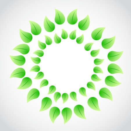 green leaves illustration design graphic bright background