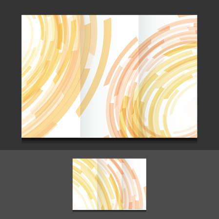 tri fold color circles illustration design graphics