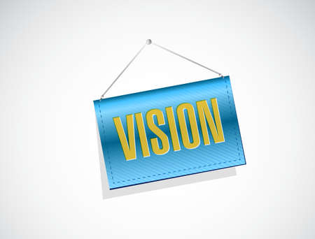 vision concept: vision hanging sign concept illustration design graphic