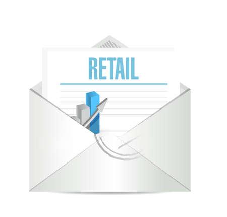 market place: retail mail review sign concept illustration design graphic