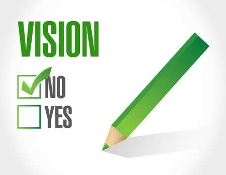 new opportunity: no vision sign concept illustration design graphic