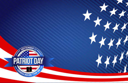 patriot: patriot day seal sign illustration design graphic background