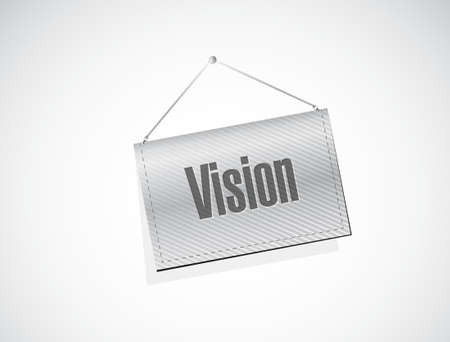 vision concept: vision banner sign concept illustration design graphic Illustration