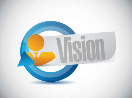 vision concept: vision cycle sign concept illustration design graphic