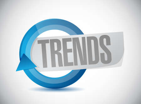business trending: trends cycle sign concept illustration design over white