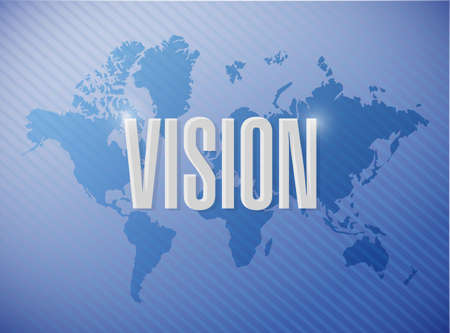 vision concept: vision world sign concept illustration design graphic