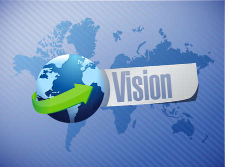vision concept: vision international sign concept illustration design graphic
