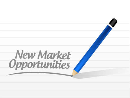 contractual: New market opportunities message sign concept illustration design graphic