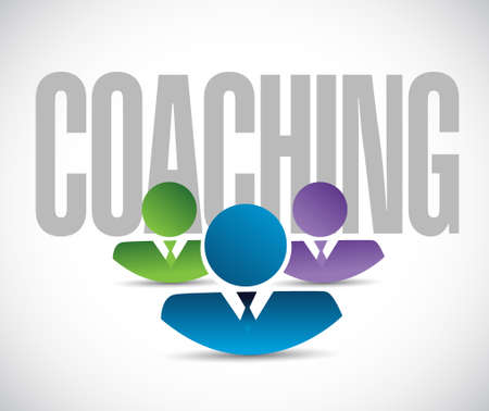 publicity: coaching team sign illustration design graphic over white