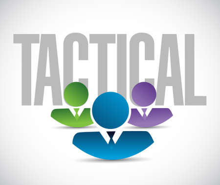 tactical: tactical team sign illustration design graphic over white Illustration