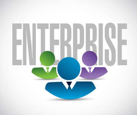 enterprise team sign illustration design graphic over white