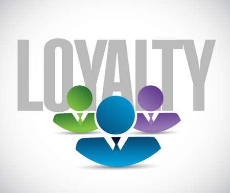 faithful: loyalty team sign illustration design graphic over white