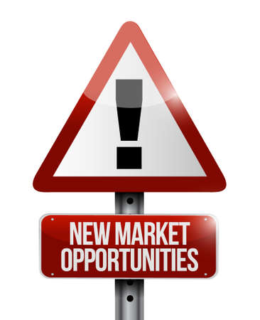 contractual: New market opportunities warning sign concept illustration design graphic