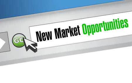 new media: New market opportunities online sign concept illustration design graphic