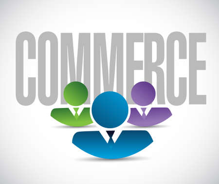 retailing: commerce team sign illustration design graphic over white