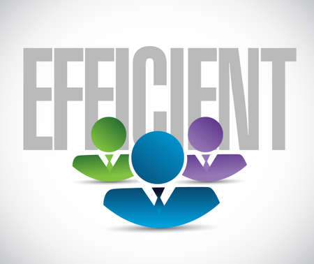 efficient: efficient team sign illustration design graphic over white