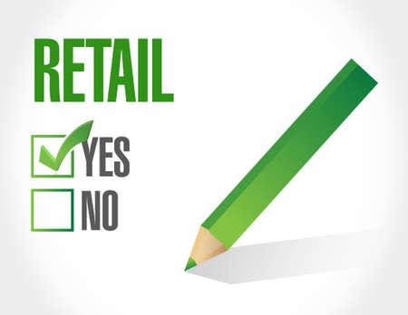 market place: retail approval sign concept illustration design graphic