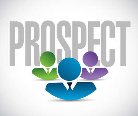 prospect: prospect team sign illustration design graphic over white