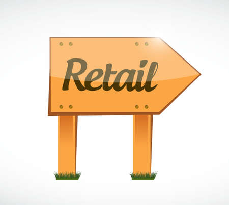 retail wood sign concept illustration design graphic