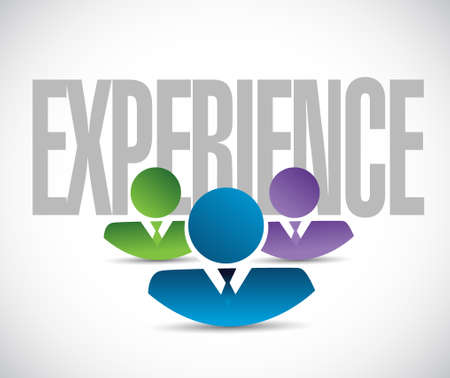 previews: experience team sign illustration design graphic over white