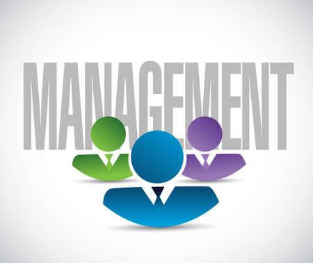 gestion empresarial: equipo de gestión ilustración de la muestra de diseño gráfico en blanco