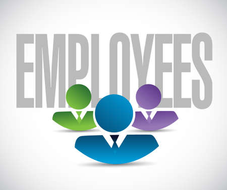 employer: employees team sign illustration design graphic over white