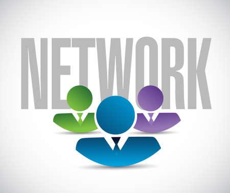 network team sign illustration design graphic over white