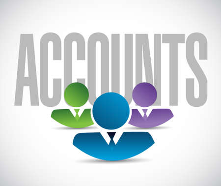 accounts: accounts team sign illustration design graphic over white