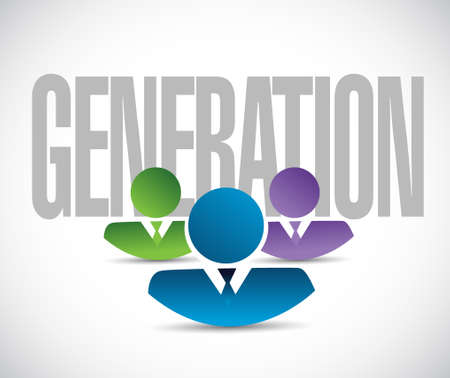 publicity: generation team sign illustration design graphic over white