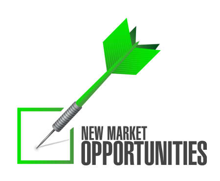 new opportunity: New market opportunities approval sign concept illustration design graphic