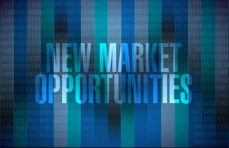 contractual: New market opportunities binary sign concept illustration design graphic