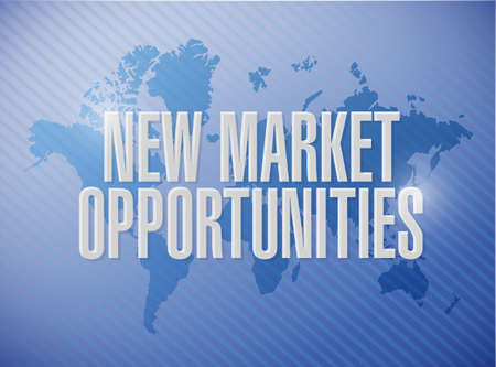 contractual: New market opportunities world map sign concept illustration design graphic