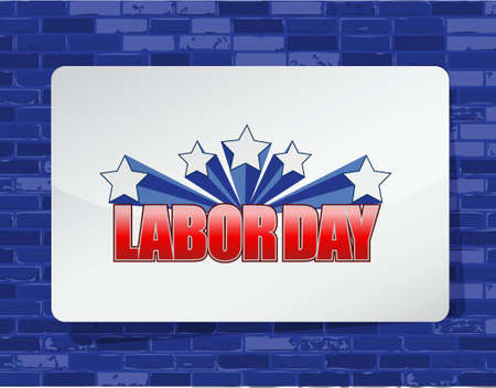 bakstenen muur: labor day brick wall background sign illustration design graphic