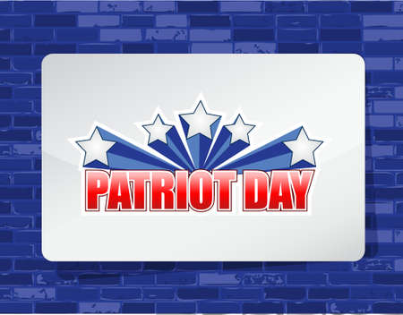bakstenen muur: Patriot day brick wall background sign illustration design graphic