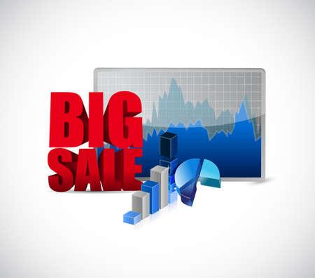 business sign: Big sale charts business sign illustration design icon graphic Illustration