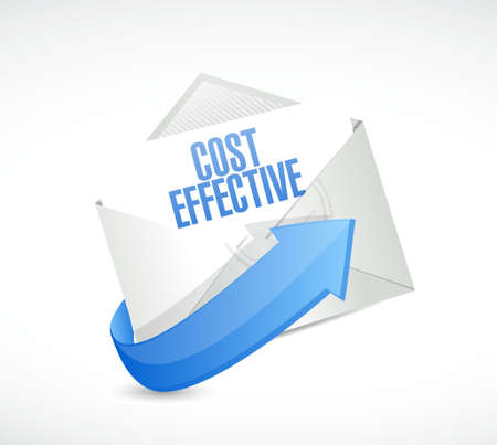 effective: Cost effective mail sign concept illustration design graphic Illustration