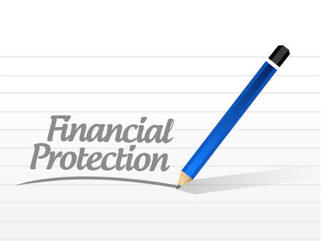 secret society: Financial Protection message sign concept illustration design graphic