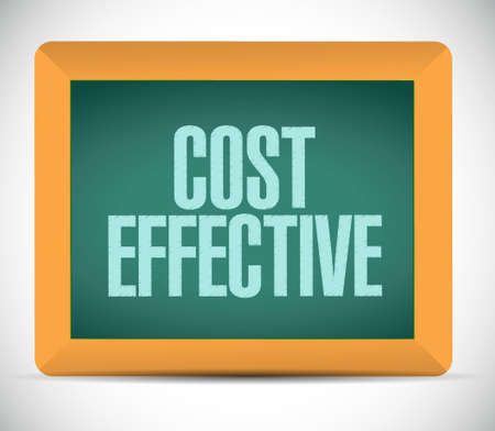 effective: Cost effective board sign concept illustration design graphic