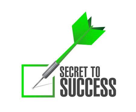 secrets: secret to success approval dart sign concept illustration design graphics