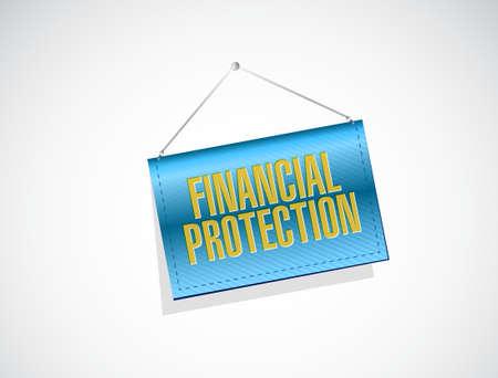 secret society: Financial Protection banner sign concept illustration design graphic