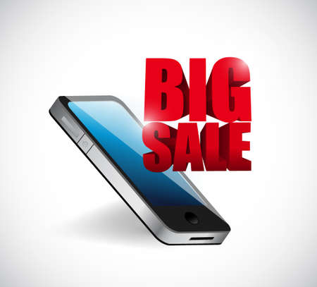 business sign: Big sale mobile phone business sign illustration design icon graphic
