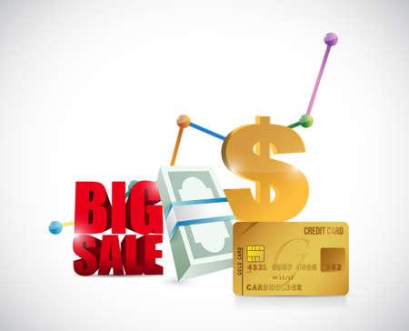 monetary concept: Big sale monetary concept business sign illustration design icon graphic Illustration