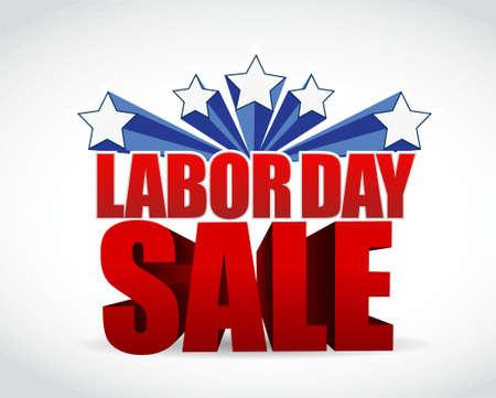 Labor Day verkoop teken illustratie grafisch