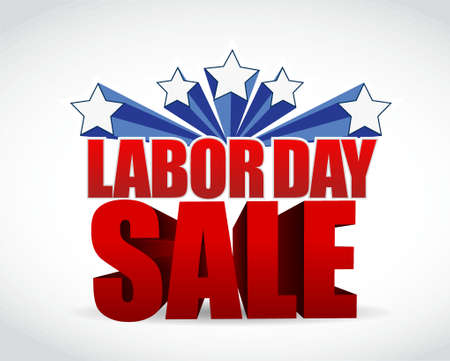 labor day sale sign illustration design graphic